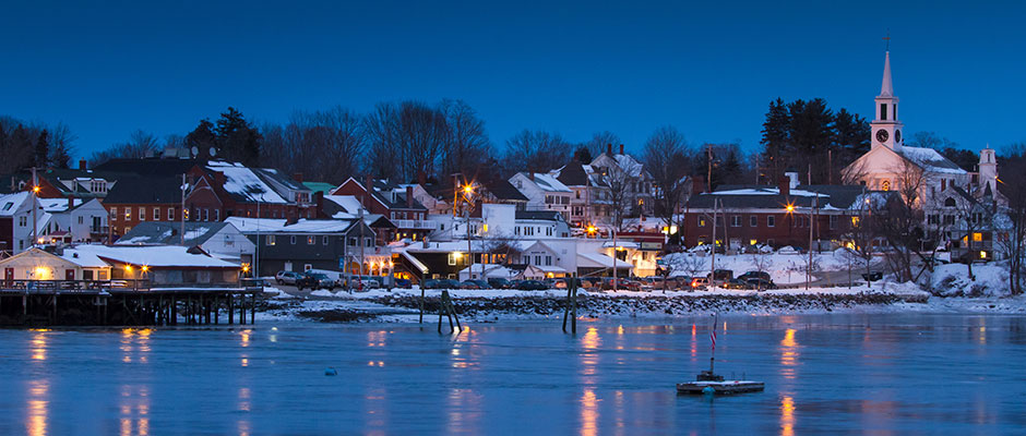 Winter in Damariscotta, Maine