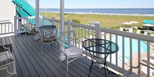 Deck View Sea Cliff House Old Orchard Beach, ME