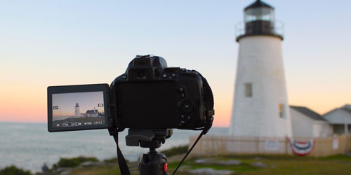 Lighthouse Camera 500x250 - Coastal Maine Photo Tours - Rockland, ME