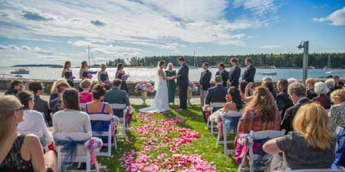 Waterfront wedding Exterior Sebasco Harbor Resort Sebasco Estates Maine