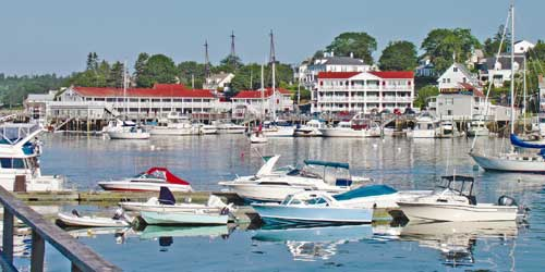 View from the Water - Tugboat Inn - Boothbay Harbor, ME