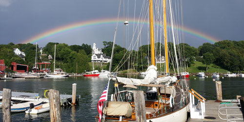 Camden Maine Stay Inn Rockport Rainbow 500x250 - Distinctive Inns of New England