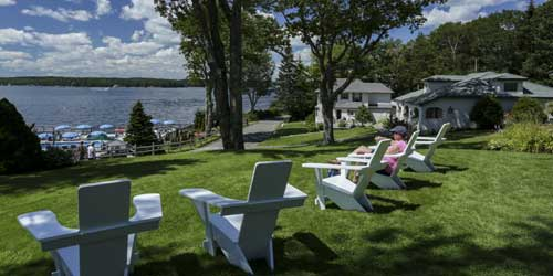 Spruce Point Inn Lawn and Waterfront Boothbay Harbor ME