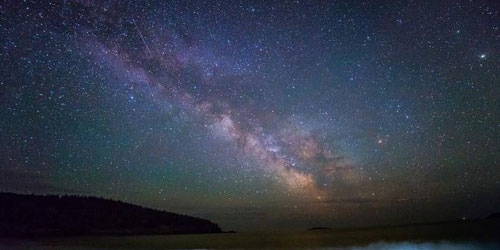stars at Acadia National Park on Mount Desert Island