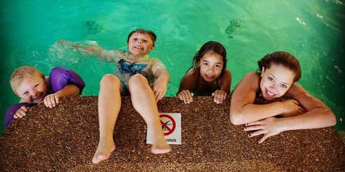 Lafayette's Oceanfront Resort Kids in Pool Wells Beach ME
