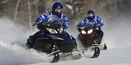 me snowmobiling