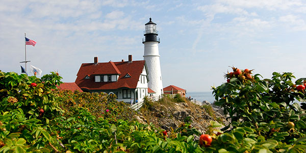 Summer in Maine - Portland Lighthouse - Credit Greater Portland CVB
