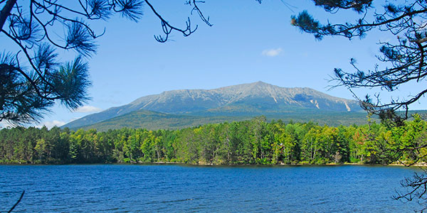 Summer in Maine - View of Mount Katahdin over Millinocket Lake - Photo Credit Maine Office of Tourism