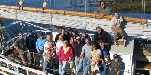 Family Reunion on the Stephen Taber - Maine Windjammers - Camden, ME