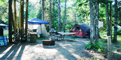 Campgrounds in Mains