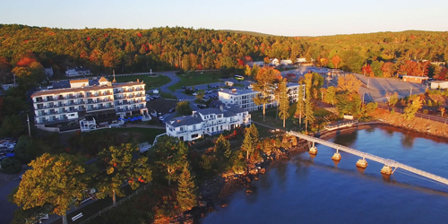 Fall Aerial View - Atlantic Oceanside Hotel & Event Center - Bar Harbor, ME