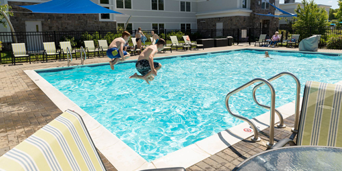 Jumping in the Pool - Atlantic Oceanside Hotel & Event Center - Bar Harbor, ME