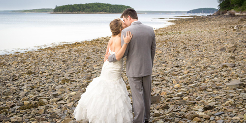 Rocky Beach Wedding Stroll - Atlantic Oceanside Hotel & Event Center - Bar Harbor, ME