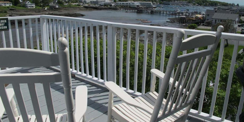 Penthouse Suite Deck Harbor View - Harbour Towne Inn - Boothbay Harbor, ME