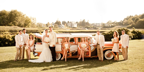 Classic Chevy & Wedding Crew - Nonantum Resort - Kennebunkport, ME - Photo Credit Nadra Photography