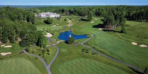 Golf Course Aerial View - Boothbay Harbor Oceanside Golf Resort - Boothbay Harbor, ME
