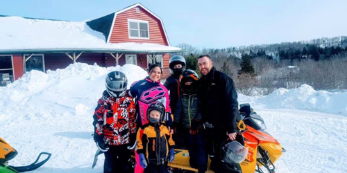 Family Snowmobile Trip - Shin Pond Village - Mt. Chase, ME