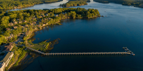 Aerial View - Sheepscot Harbor Vacation Club - Edgecomb, ME
