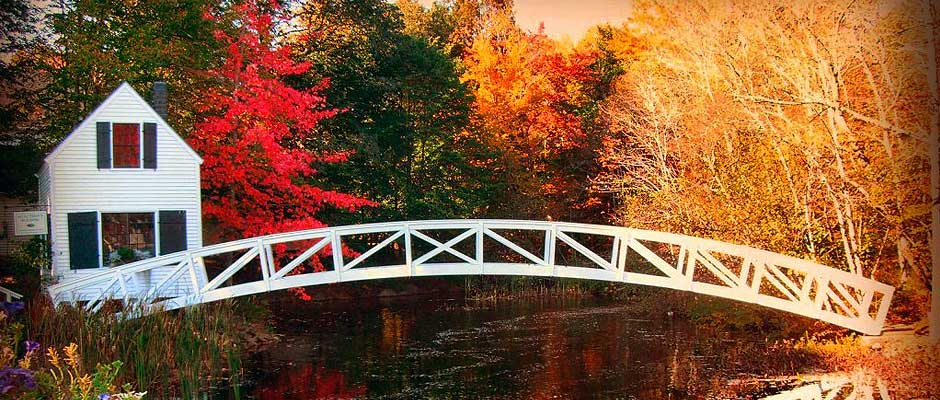 Somesville Bridge in Bar Harbor Maine