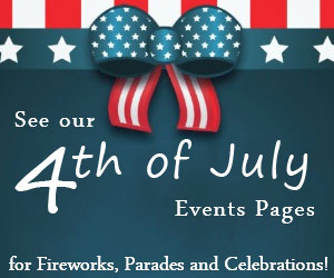 Click here to see VNE's July 4th 2016 Weekend Events Calendar! Fireworks shows, Parades and Celebrations!