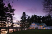 Exterior at Dusk - Wolf Cove Inn - Poland, ME