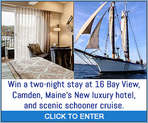 Win a Luxury Stay at 16 Bay View in Camden, Maine and Schooner Cruise! Sponsored by VisitNewEngland.com - Click here to enter and for more details!