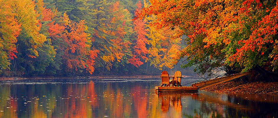 Fall Adirondack Chairs Near Portland Maine