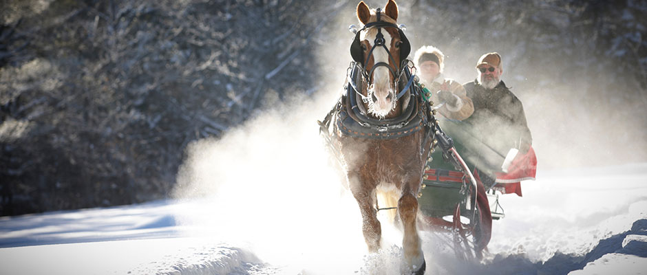 Sleigh Ride in Bethel, ME. Maine Office of Tourism