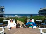 Relaxing on the Roof - Beachmere Inn - Ogunquit, ME