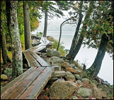 Jordan pond trail in acadia national park maine