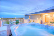 Outdoor Hot Tub - Seaside Inn & Cottages - Kennebunk Beach, ME
