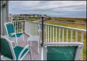Oceanfront Room Balcony View - Seaside Inn & Cottages - Kennebunk Beach, ME